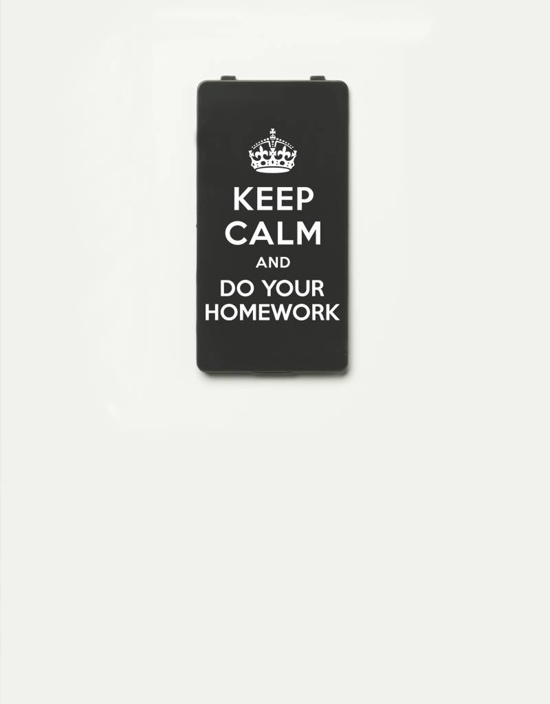 YOU·P® YOU·P®-klepje limited edition | KEEP CALM and DO YOUR HOMEWORK | Grijs