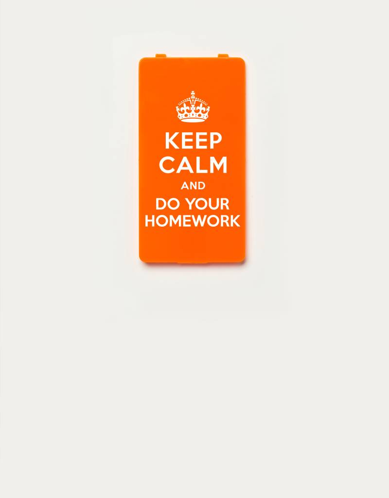 YOU·P® YOU·P®-klepje limited edition | KEEP CALM and DO YOUR HOMEWORK | Oranje