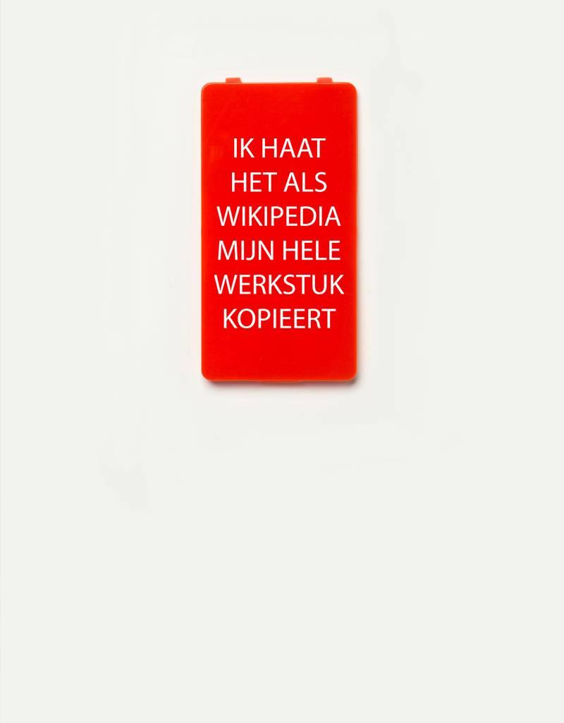 YOU·P® YOU·P® Limited Edition - cover for YOU·P smartphone holder | IK HAAT HET ALS WIKIPEDIA MIJN HELE WERKSTUK KOPIEERT | Red
