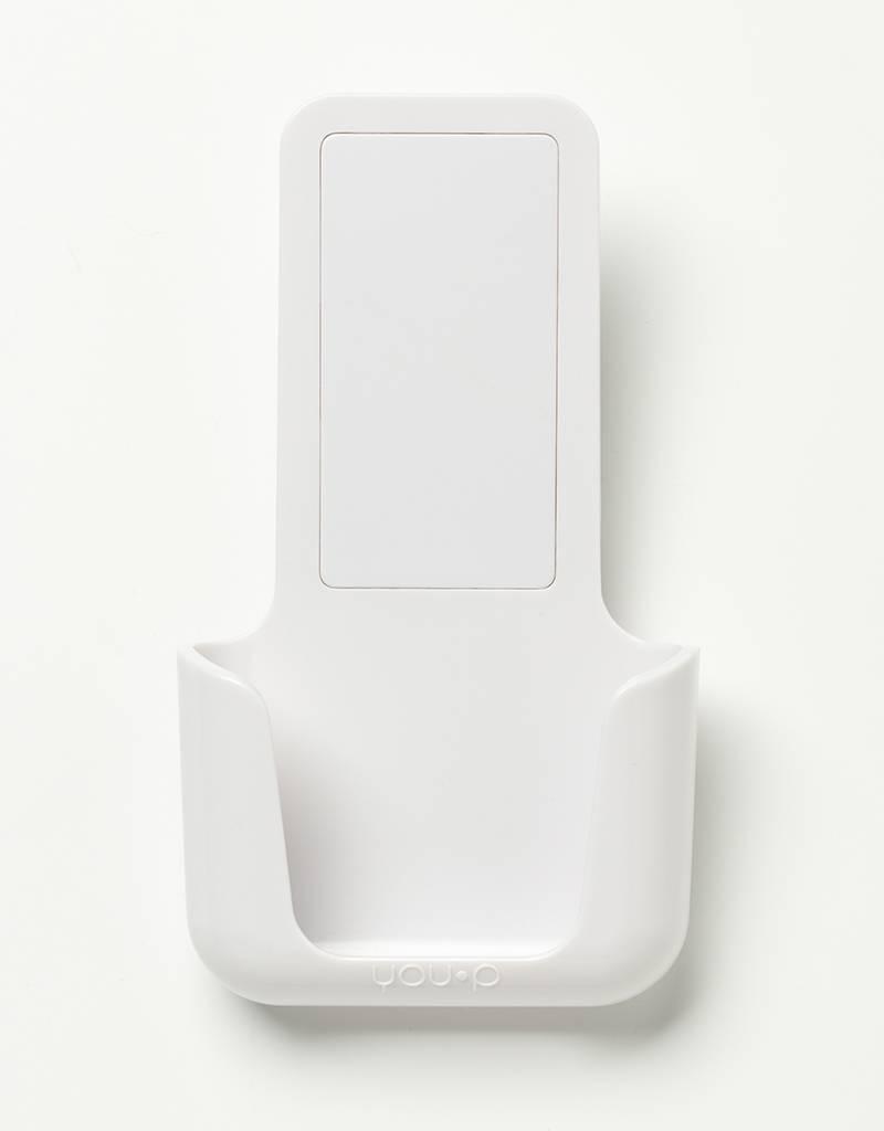 YOU·P® YOU·P® smartphonehouder   witte houder   wit klepje