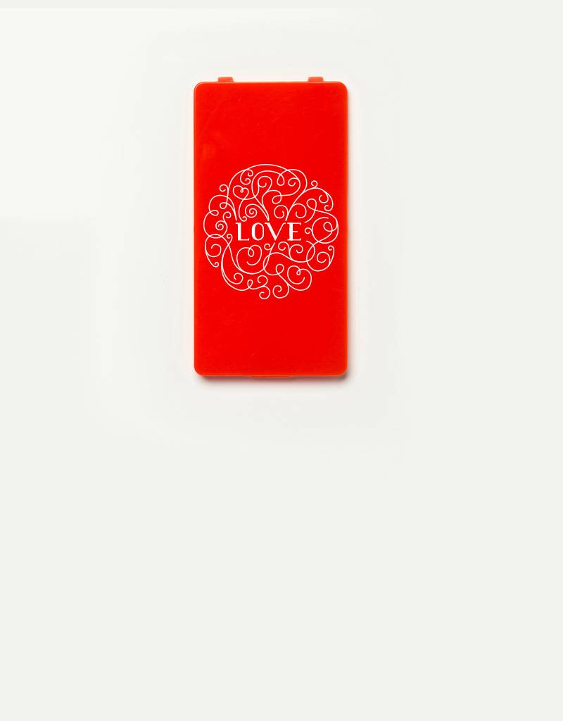 YOU·P® cover for YOU·P smartphone holder | LOVE (white on red)