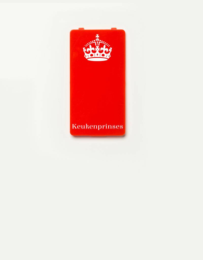 YOU·P® YOU·P®-klepje |  Keukenprinses wit op rood
