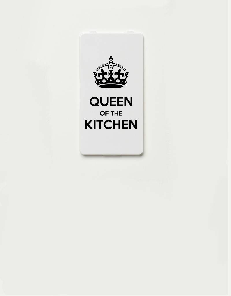 YOU·P® cover for YOU·P smartphone holder | Queen of the Kitchen | Black on white