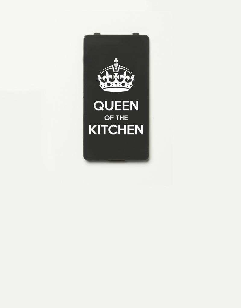 YOU·P® YOU·P®-klepje |  Queen of the Kitchen | Wit op Grijs