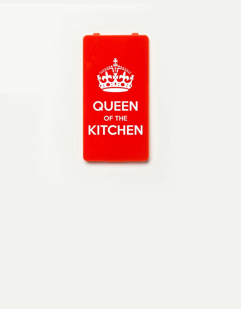 YOU·P® YOU·P®-klepje |  Queen of the Kitchen | Wit op Rood