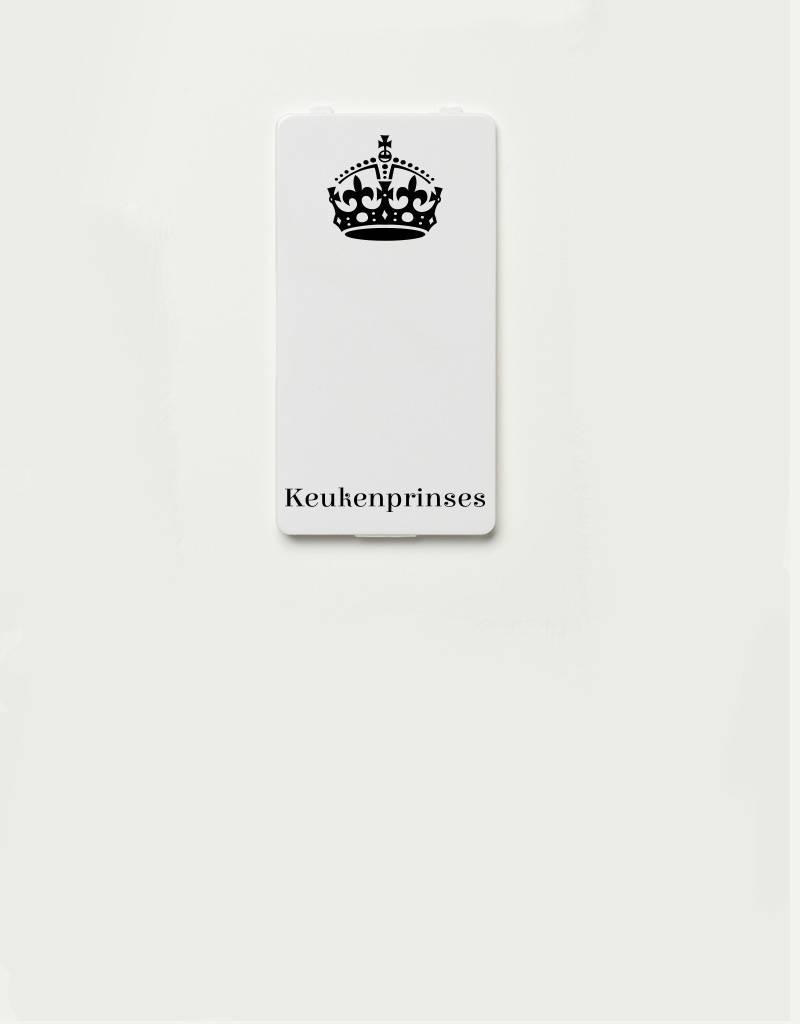 YOU·P® YOU·P®-klepje |  Keukenprinses (zwart op wit)