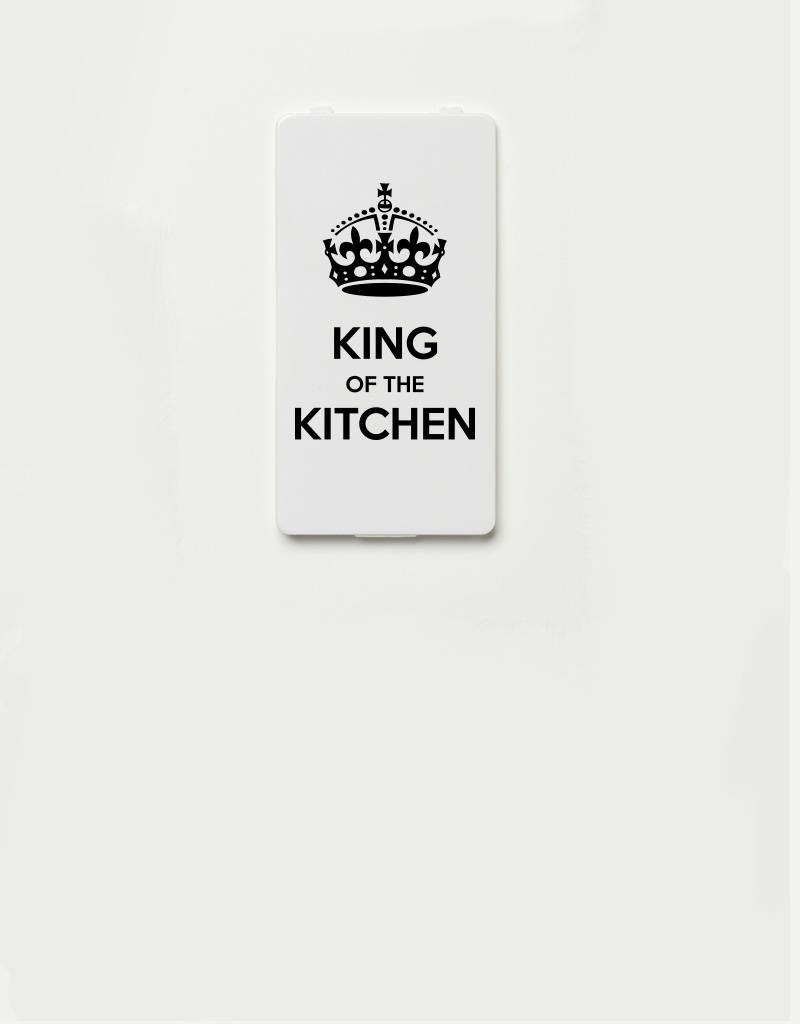 YOU·P® YOU·P®-klepje |  King of the kitchen - zwart op wit