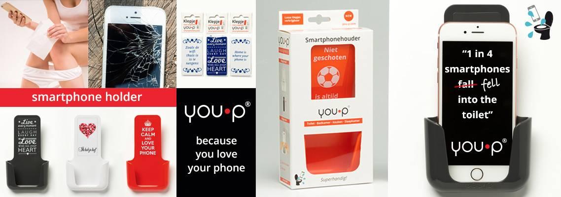 YOU·P® Smartphone holder toilet slogan