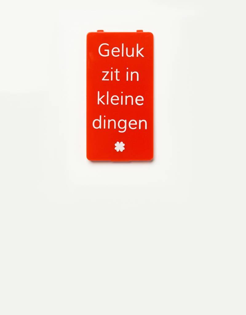 YOU·P® YOU·P® klepje | rood | Geluk Zit In Kleine Dingen