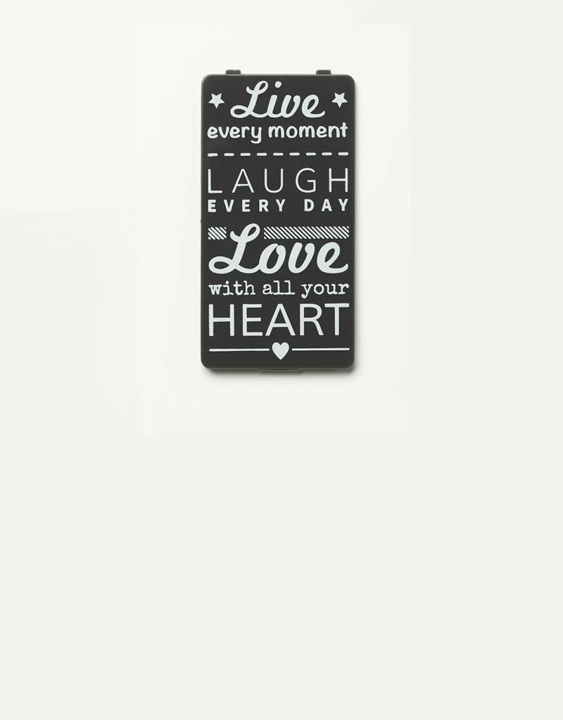 YOU·P® YOU·P®-klepje | grijs | Live Laugh Love