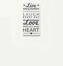 YOU·P® White | Live Laugh Love