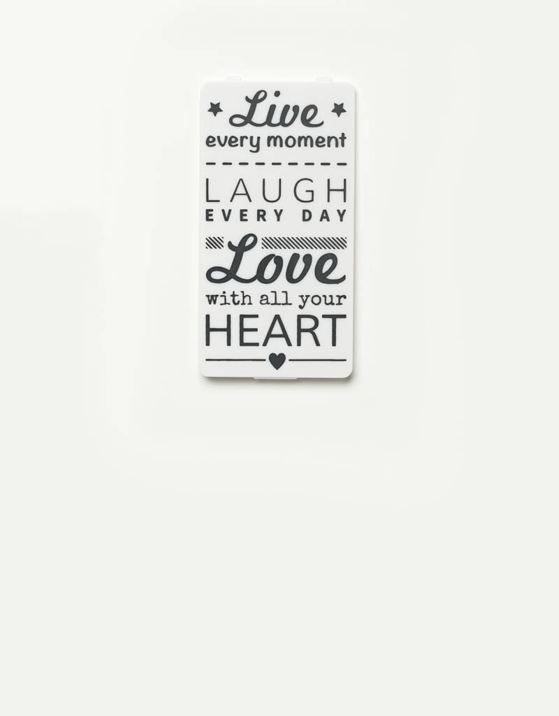 YOU·P® YOU·P® klepje | wit | Live Laugh Love