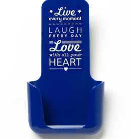 YOU·P® YOU·P® smartphonehouder | blauw | Live Laugh Love