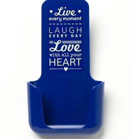 YOU·P® YOU·P® smartphonehouder | blue | Live Laugh Love - Copy