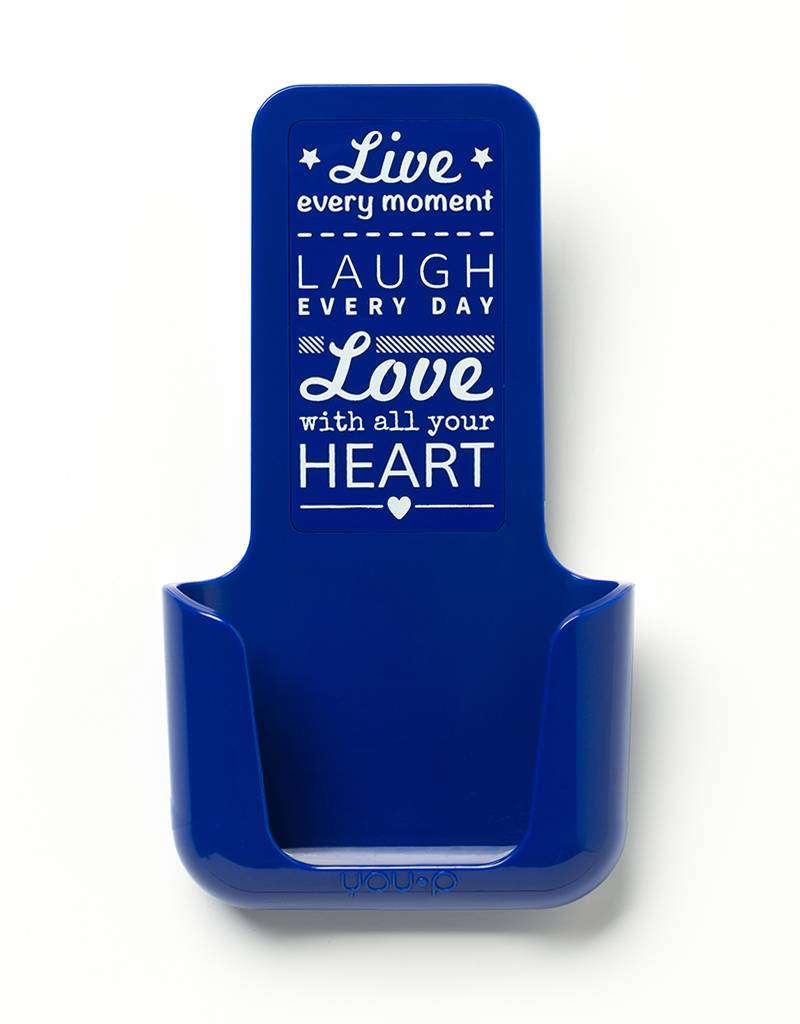 YOU·P® YOU·P® smartphonehouder | blauwe houder | blauw klepje | Live Laugh Love