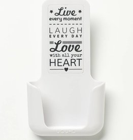 YOU·P® YOU·P® smartphonehouder | wit | Live Laugh Love