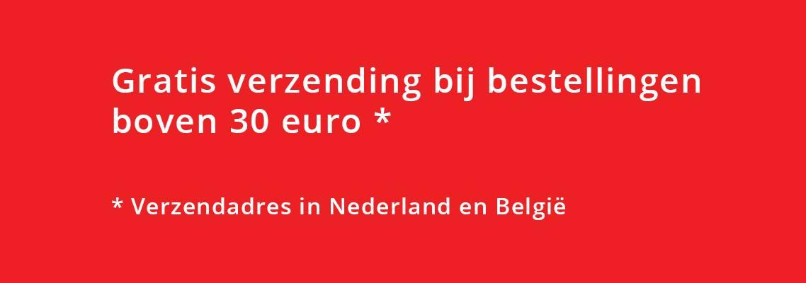 Gratis verzending boven 30 euro in NL en BE