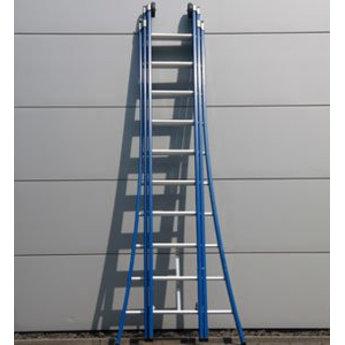 DAS products DAS Atlas driedubbele Ladder 3x16 treden - blauw gecoat