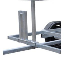 Euroscaffold Steigerwiel houder 60x60 mm tbv 2 steigerwielen
