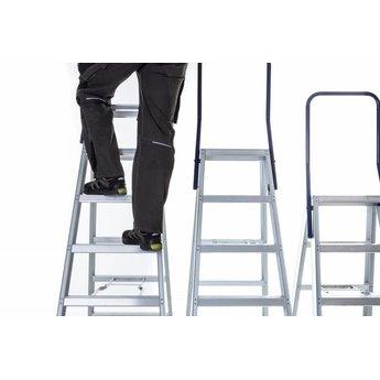 Eurostairs Dubbele trap professioneel 4 treden