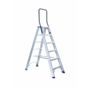 Eurostairs Dubbele trap professioneel 6 treden (max. 3,30 m werkhoogte)