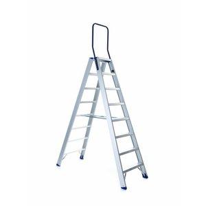 Eurostairs Dubbele trap professioneel 8 treden (max. 3,80 m werkhoogte)