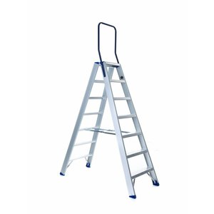 Eurostairs Dubbele trap professioneel 7 treden (max. 3,55 m werkhoogte)