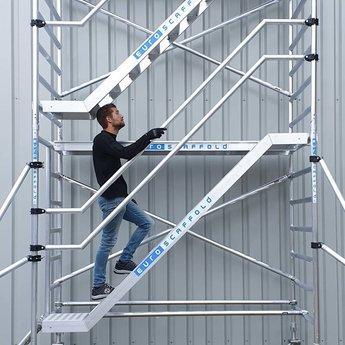 Euroscaffold Trappentoren 135x250x6,2m werkhoogte