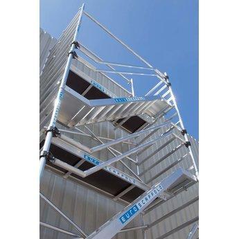 Euroscaffold Trappentoren 135 x 250 x 6,2 m werkhoogte