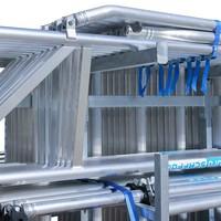 Euroscaffold Steigeraanhanger + Rolsteiger Compleet  135 x 250 x 6,2m werkhoogte + enkele voorloopleuning