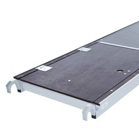 Euroscaffold Kamersteiger 90x190x4m werkhoogte + platform 30 cm + uitbreiding B