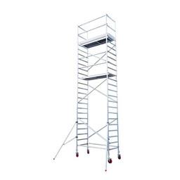 Euroscaffold Basic rolsteiger met vario voorloopleuning 75x250x8,2m werkhoogte
