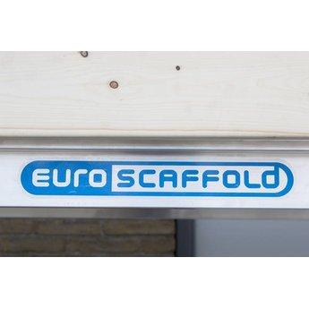 Euroscaffold Basic rolsteiger met vario voorloopleuning 90x190x4,2m werkhoogte