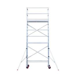 Euroscaffold Basic rolsteiger met vario voorloopleuning 90x190x6,2m werkhoogte + extra vloer