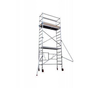 Euroscaffold Vouwsteiger met vario voorloopleuning 75x190x5,8m werkhoogte