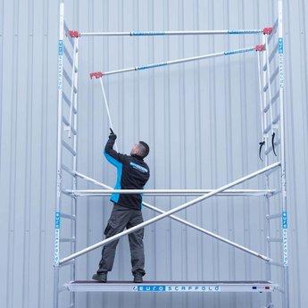 Euroscaffold Vouwsteiger met vario voorloopleuning 75x190x6m werkhoogte