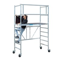 Euroscaffold Kamersteiger 90x190x3m werkhoogte + platform 30 cm + uitbreiding A