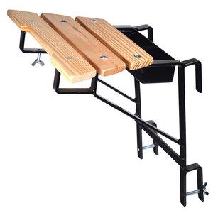 Ladder muurafhouder zwart (sport 30 mm)