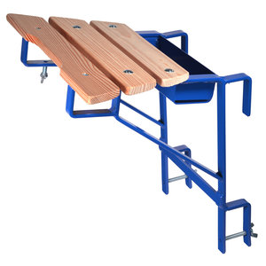 Ladder muurafhouder blauw (sport 40 mm)
