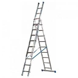 MAXALL®  Maxall Driedelige Reformladder recht 3x12 sporten + gevelrollen