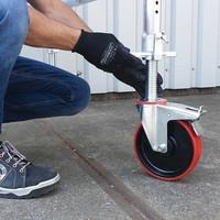 Kamersteiger werkhoogte 4,0 meter met verstelbare rolsteigerwielen