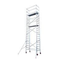 Euroscaffold Afsluitbare Steigeraanhanger +  Basis Rolsteiger 75 x 190 x 8,2 meter