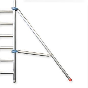 Euroscaffold Afsluitbare Steigeraanhanger +  Basis Rolsteiger 75 x 190 x 9,2 meter