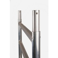 Euroscaffold Afsluitbare Steigeraanhanger +  Basis Rolsteiger 75 x 190 x 10,2 meter