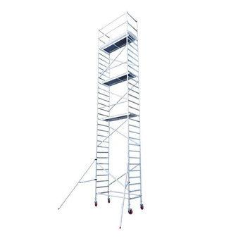 Euroscaffold Afsluitbare Steigeraanhanger +  Basis Rolsteiger 75 x 250 x 10,2 meter