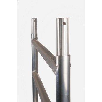 Euroscaffold Afsluitbare Steigeraanhanger +  Basis Rolsteiger 90 x 190 x 8,2 meter