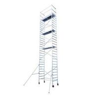 Euroscaffold Afsluitbare Steigeraanhanger +  Basis Rolsteiger 90 x 250 x 8,2 meter