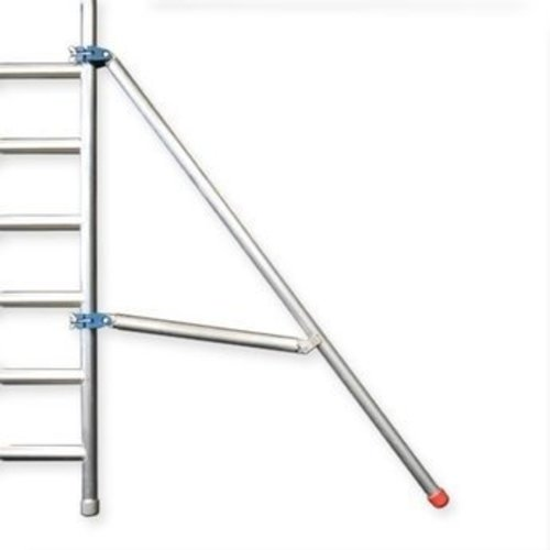Euroscaffold Afsluitbare steigeraanhanger +  Basis Rolsteiger 90 x 305 x 9,2 meter