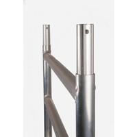 Euroscaffold Afsluitbare Steigeraanhanger +  Basis Rolsteiger 135 x 190 x 5,2 meter