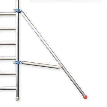 Euroscaffold Afsluitbare Steigeraanhanger +  Basis Rolsteiger 135 x 190 x 6,2 meter
